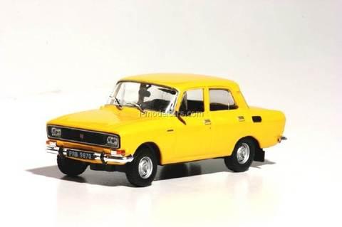 Moskvitch-2140 Moskwicz yellow 1:43 DeAgostini Kultowe Auta PRL-u #101
