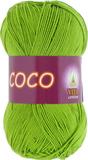 Пряжа Vita Coco ярко-зеленый 3861