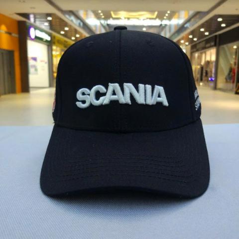 Кепка Скания черная (Бейсболка Scania)