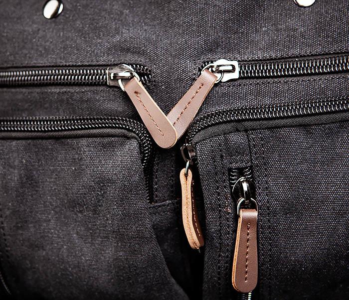 BAG475-1 Мужская сумка рюкзак «трансформер» из ткани фото 05