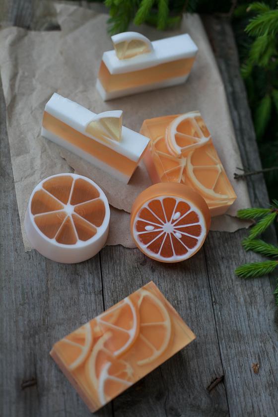 Мыло своими руками. Форма Апельсинка