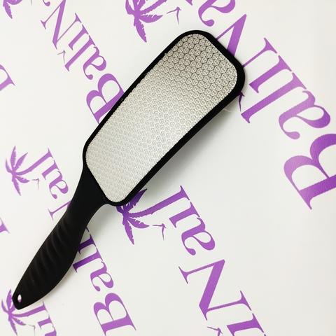 Пилка педикюрная лазерная с пластмассовой ручкой, малая