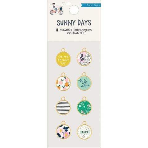 Набор шармов Maggie Holmes Sunny Days Charm Embellishments -Bronze & Epoxy - 8шт