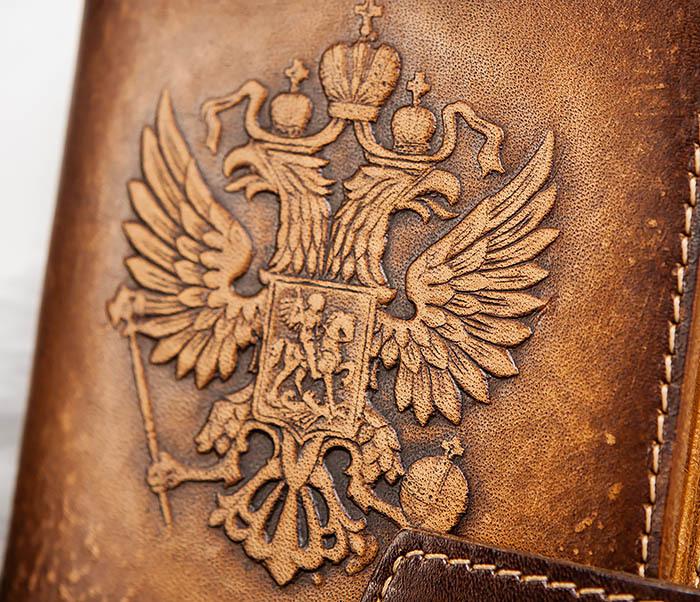 BY11-01-04 Обложка для документов с Гербом России фото 02