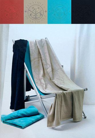 Полотенце пляжное 100х180 Mirabello Zenith синее