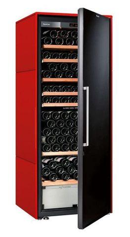 Винный шкаф EuroCave D Collection L красный сатин, сплошная дверь, стандартная комплектация