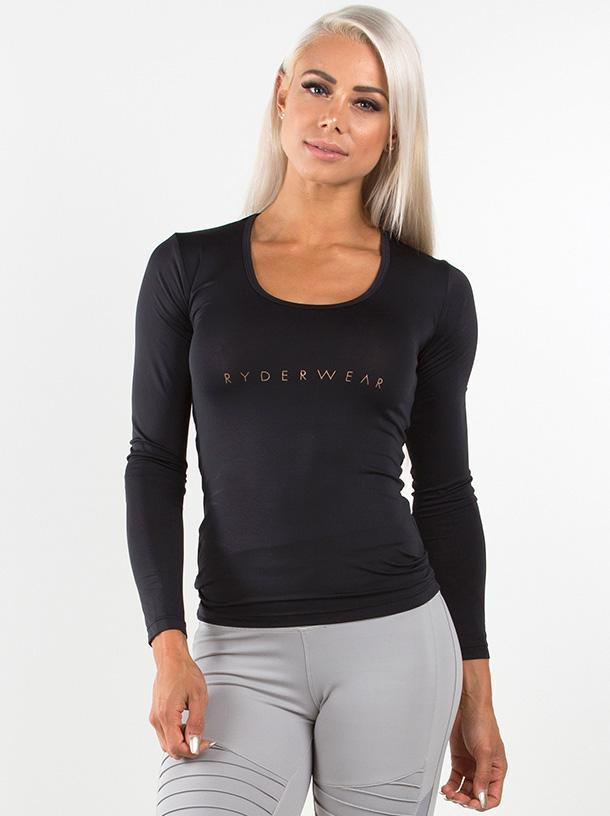Женский рашгард Ryderwear Highway Long Sleeve Top - Black