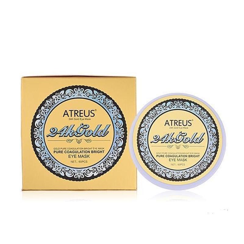 Atreus Патчи для век 24К Золото 24K Gold Eye Mask, 60 шт