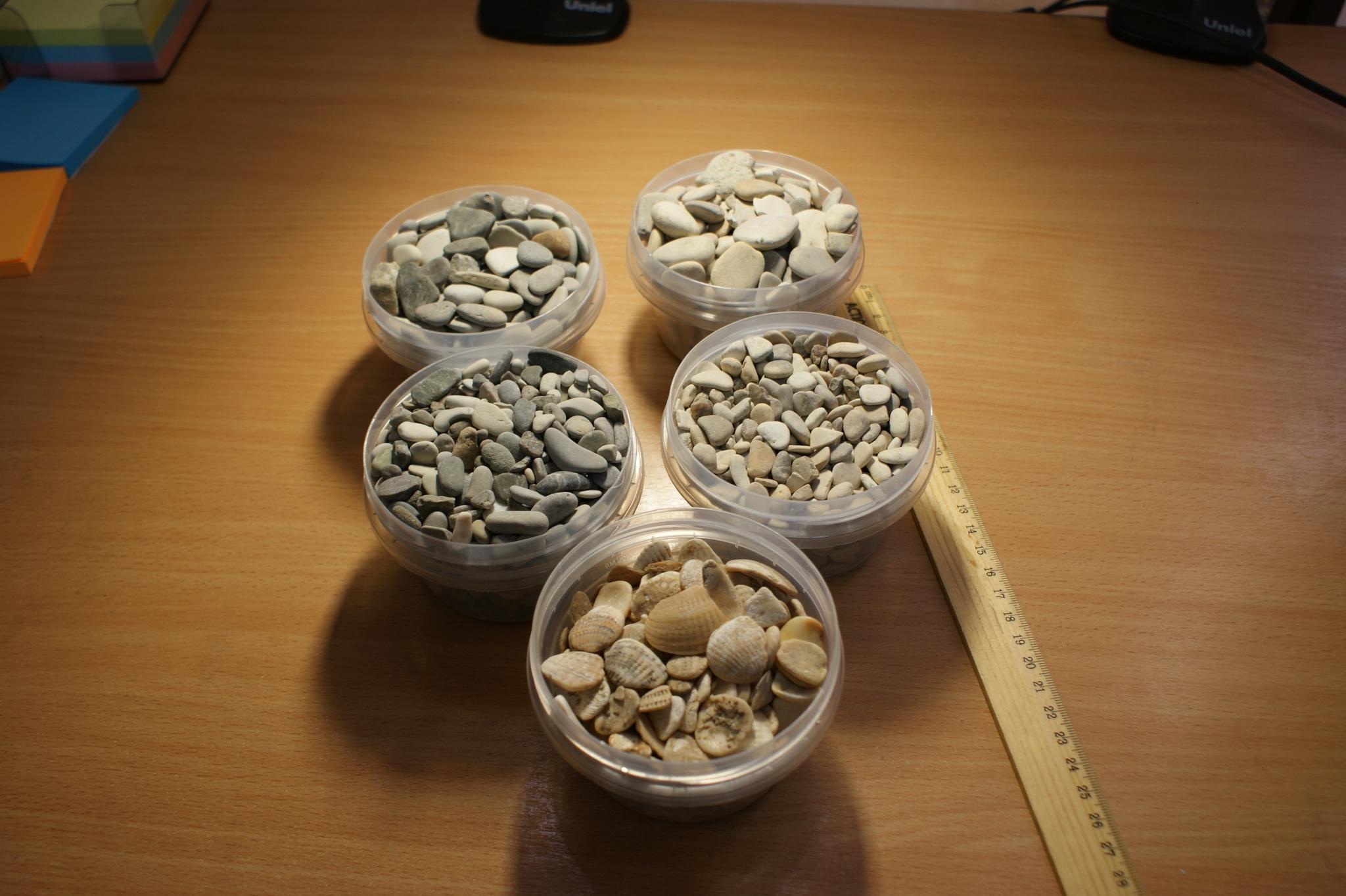 Галька камень морской: Черноморский, Каспийский и ракушка