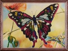 Бабочка  - картина из пайеток