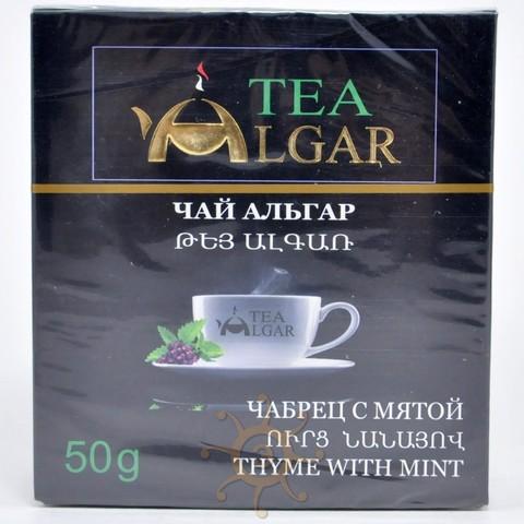 Чай травяной чабрец и мята Альгар, 50г