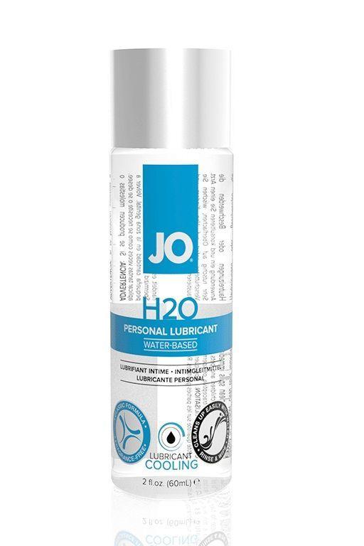 Пролонгаторы: Охлаждающий лубрикант на водной основе JO Personal Lubricant H2O COOLING - 60 мл.