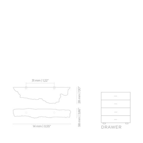 Мебельная ручка PullCast KESYA EA1004