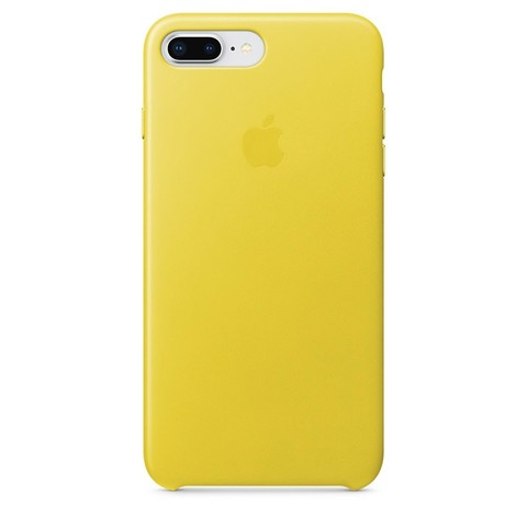 Чехол iPhone 7+/8+ Leather Case /spring yellow/