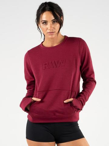 Женская кофта Ryderwear Raise Crew Neck - Burgundy