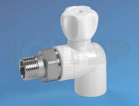 PPR Кран радиаторный угловой НР D20-1/2 ЭКО