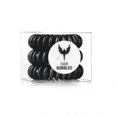 Силиконовая резинка для волос Hair Bobbles  - Черная, 3 шт