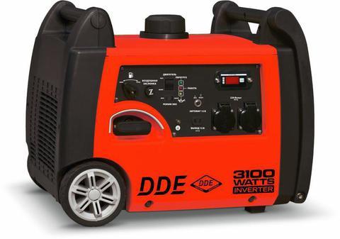 Генератор бензиновый инверторного типа DDE Шумоизолированный DPG3251Si (1ф ном/макс 2,8/3,1кВт, т/бак 6л, две роз.16А+вых.12В, колёса,ручка д/перев.,3