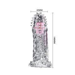 Насадка для увеличения пениса с усиками и вибропулькой (4,2 х 14 см)