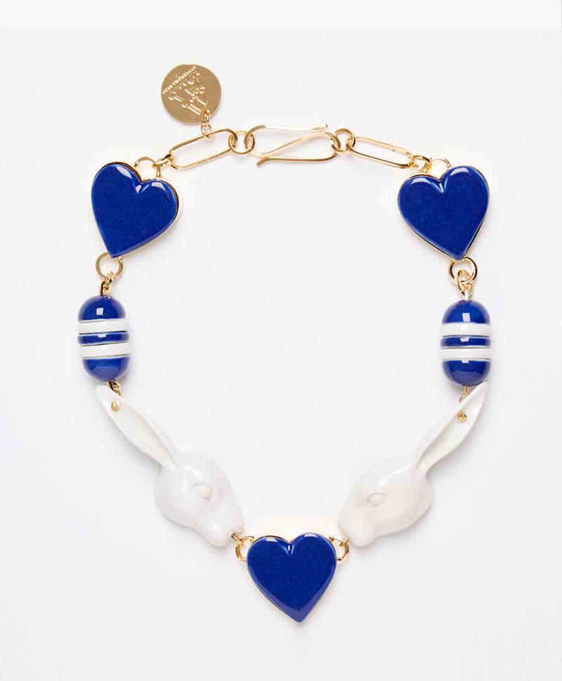 Колье из фарфора Sailor Blue