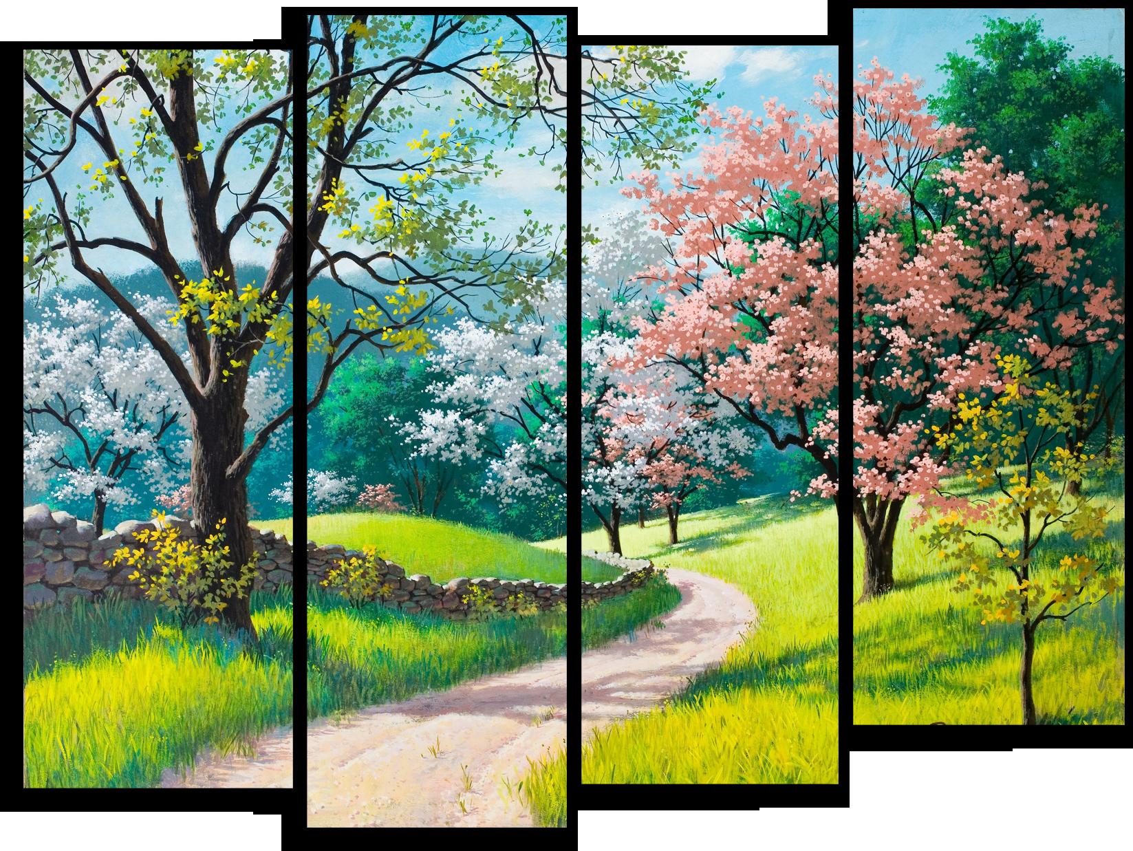 """Природа Модульная картина """"Цветущий лес"""" М465.png"""