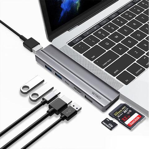 Переходник adapter USB Yype C 8in1Wiwu T9 /gray/