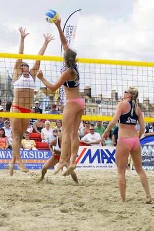 Сетка для пляжного волейбола жёлтого цвета