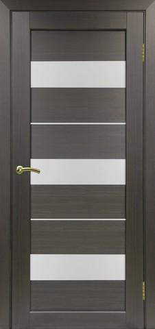 Дверь Optima Porte Парма 426.122, стекло Мателюкс, цвет венге, остекленная