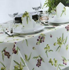 Скатерть 170x230 и 8 салфеток Mirabello Olive