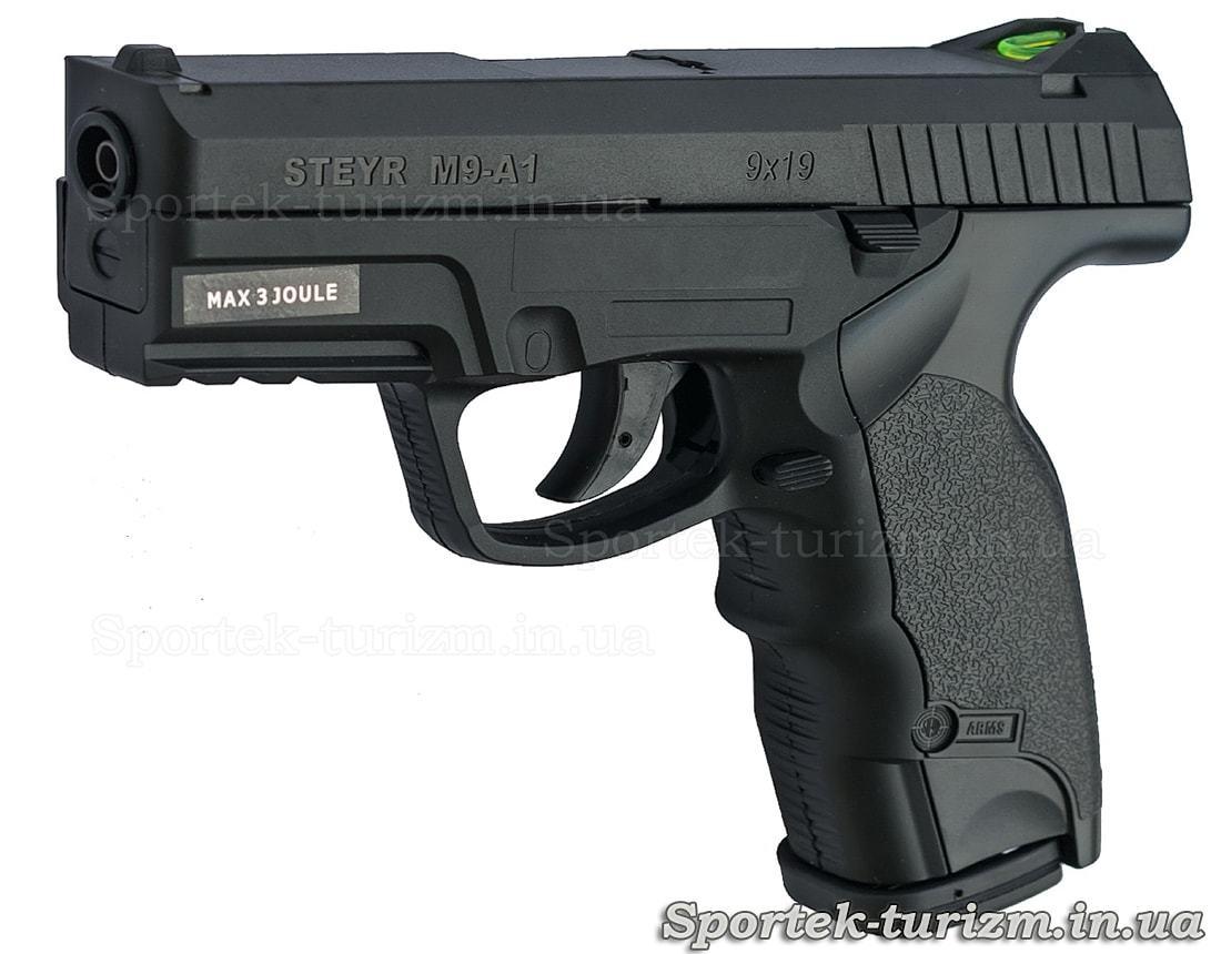 Пистолет пневматический ASG Steyr M9-A1 4,5мм газобаллонный, черный