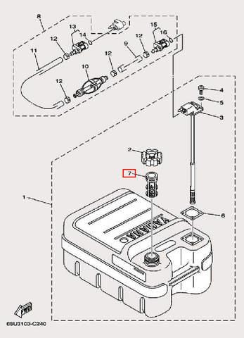 Фильтр для лодочного мотора F9,9 Sea-PRO (27-7)