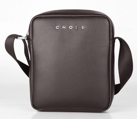 Кожаная сумка-планшет через плечо Cross Volt, brown, фото 2