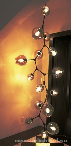 replica  BRANCHING BUBBLE CHANDELIER 11  by LINDSEY ADELMAN     cascade ( dark )