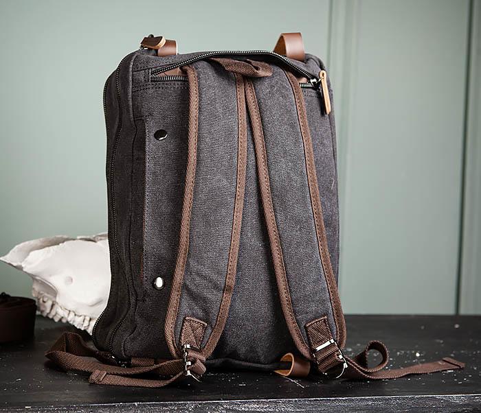 BAG475-1 Мужская сумка рюкзак «трансформер» из ткани фото 12