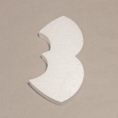 Буква З шрифт BeeskneesC из пенопласта
