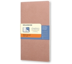 Блокнот Moleskine Chapter Slim Large розовый