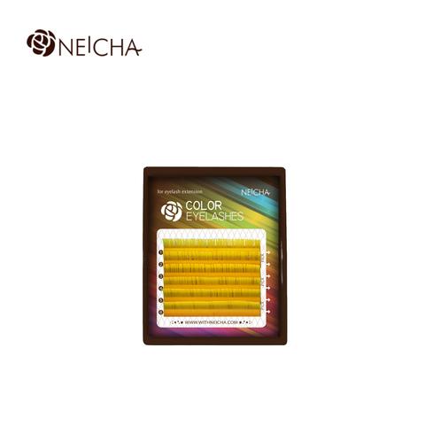 Ресницы NEICHA нейша цветные 6 линий MIX желтый