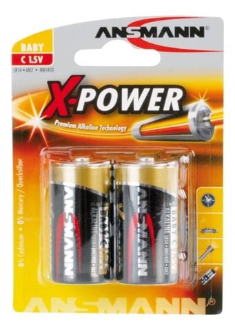 Батарейка X-POWER, C ANSMANN 1.5V - 2шт