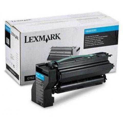 Картридж для принтеров Lexmark C752, C762 голубой (cyan). Ресурс 15000 стр (15G032C)