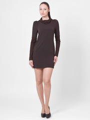 P4173-6 платье коричневое