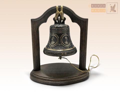 колокол Копия Благовеста Исаакиевского собора на подставке из дуба