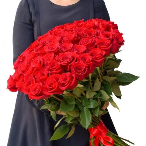 Букет из 55 красных роз Эквадор