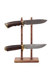 Стойка из ореха для 5 складных ножей