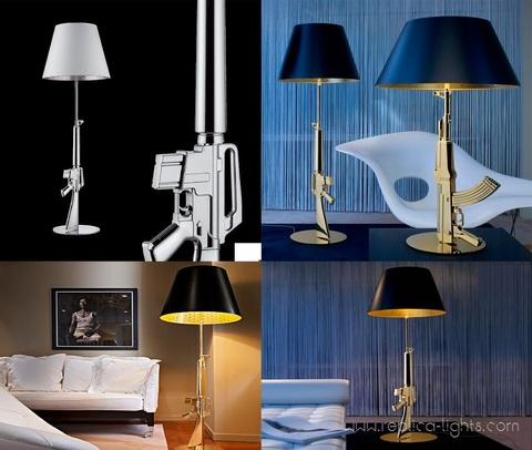 replica   Gold Gun Table Lamp