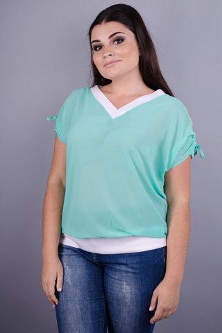 Деніз. Ніжна блуза великих розмірів. М'ята.