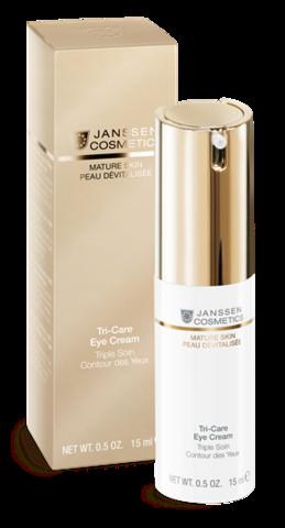 Janssen Tri-Care Eye Cream - Омолаживающий укрепляющий крем для контура глаз с комплексом Cellular Regeneration