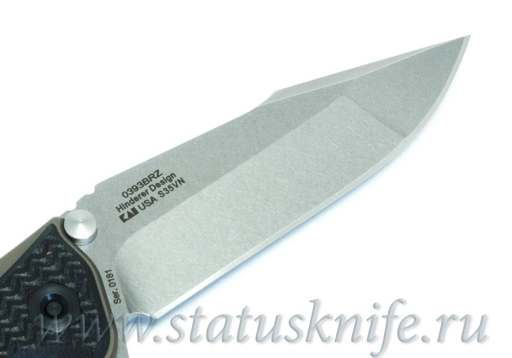 Нож Zero Tolerance 393BRZ Rick Hinderer Limited Edition