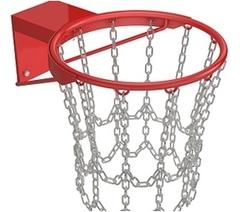Кольцо баскетбольное антивандальное с сеткой из цепей №7.