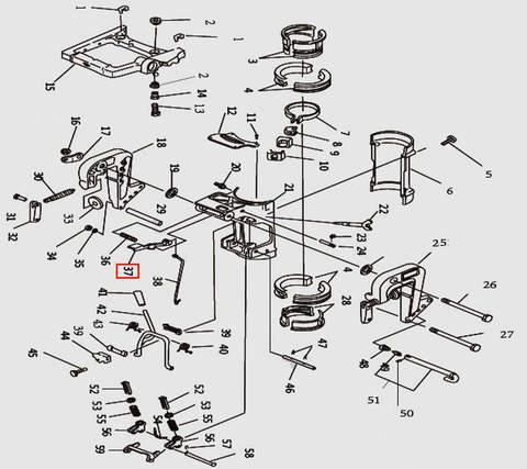 Регулировочная пластина для лодочного мотора T9.8 Sea-PRO (11-37)