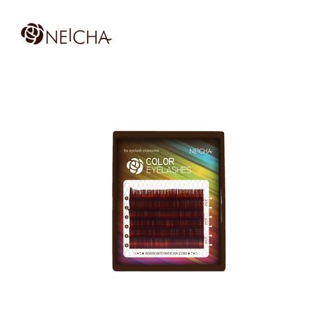 Ресницы NEICHA нейша цветные 6 линий MIX винный